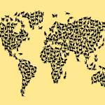 """Cats Map of the World Map"" by ModernArtPrints"