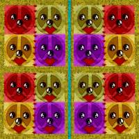 Peace Dogs Art Prints & Posters by Pepita Selles