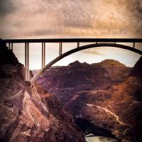 Hoover Dam Bridge Art Prints & Posters by Laura D'Addona