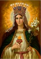 Virgin Mary Immaculate Heart Catholic Picture