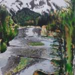 """""""mount ranier river flow"""" by Dennisartist"""