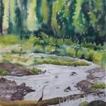 """""""mount ranier treefall"""" by Dennisartist"""