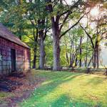 """Old Farmahouse in Warm Autumn Sunlight, New Jersey"" by George_Oze"