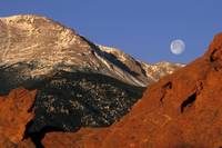 Pikes Peak and a Full Moon