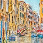"""Venice canal"" by SueLeonard"