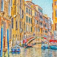 Venice canal Art Prints & Posters by Susan Leonard