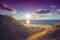 Cooks Brook Beach Sand Sunset Eastham Cape Cod
