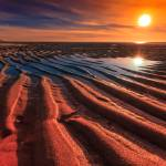 """Cape-Cod-sunset-Sand-Ripples-at-Low-Tide"" by Black_White_Photos"