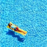 """""""Poolgirl.raft.above"""" by RubinoFineArt"""
