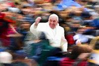 Pope Francis In Crowd of Faithful Acrylic 2