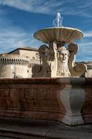 The ancient fountain in Senigallia