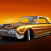 1962 Thunderbird Custom Coupe Art Prints & Posters by Dave Koontz