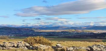 Distant Mountains from Birkrigg Cumbria
