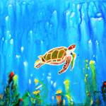 """""""Underwater Magic 5-Happy Turtle excellent gift for"""" by mkanvinde"""