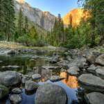 """Day 16 - El Capitan Sunset from Merced River 4 - s"" by Gold41"