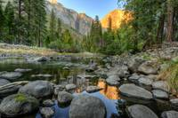 Day 16 - El Capitan Sunset from Merced River 4 - s