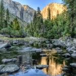 """Day 16 - El Capitan Sunset from Merced River 1 sm"" by Gold41"