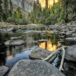 """Day 16 - El Capitan Sunset from Merced River 2a"" by Gold41"