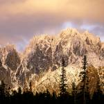 """Wine Spires & Silver Star Mountain at sunset"" by JohnChaoPhoto"
