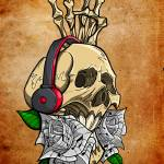 """Music Skull"" by BrandyTatts"
