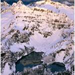 """Twin Lakes below Columbia Peak at winter sunset (a"" by JohnChaoPhoto"