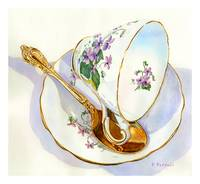 Tea Cup and Spoon