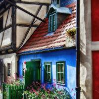 Little House in Golden Lane inPrague Castle Art Prints & Posters by George Oze