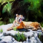 """Tawny Tiger"" by ArtByDianeKraudelt"