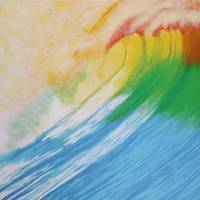 Big Wave at Sunset Art Prints & Posters by Alina Deutsch