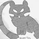 """""""Kitten Leaning on the MOON Seven2"""" by lovelytibet"""