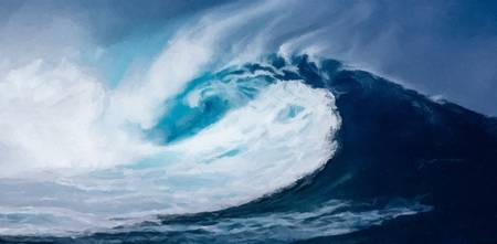 wave seascape art print