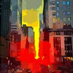 """""""New York City Strees Cityscape"""" by rogueart"""