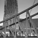 """Iron Bridge and Frankfurt Cathedral"" by ginton"