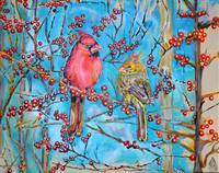 Thomas Dillon Artist Cardinals Winter Berry