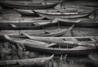 """Boats Waiting"" Santarem, Brazil by Joe Gemignani"
