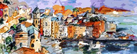 Vernazza Dolce Vita Panorama Mixed Media