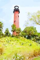 Jupiter Lighthouse Watercolor