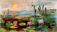 Summer By The Golden Pond Lily Flowers