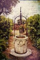 Antique Italian Well In A Garden At Lake Garda
