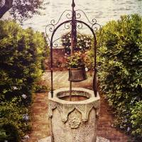 Antique Italian Well In A Garden At Lake Garda Art Prints & Posters by George Oze