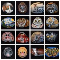 Painted Rocks Art Prints & Posters by Sharon Patterson