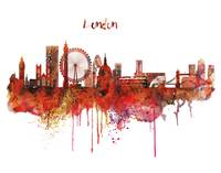 London Skyline Watercolor