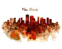 New Orleans Watercolor Skyline