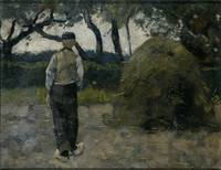 A Farmer standing near a Hay-Stack, Richard Roland