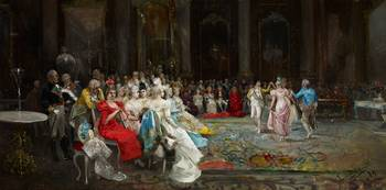 Eugenio Lucas Villaamil , Dance at the Palace 1894