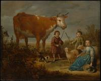Aelbert Cuyp, Children and a Cow