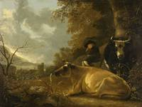 1670, Landscape with Cows by Aelbert Cuyp