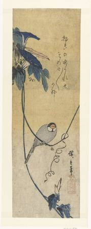 Bird and blue bindweed, Hiroshige (I), Utagawa, 18