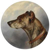 Carl Reichert (1836-1918) Dog Portrait