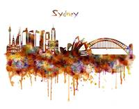 Sydney Watercolor Skyline